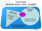 terminology adverse event error incident