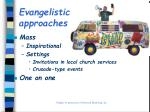 evangelistic approaches