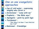 one on one evangelistic approaches