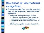 relational or incarnational evangelism