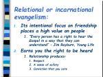 relational or incarnational evangelism1