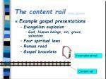 the content rail gospel definition