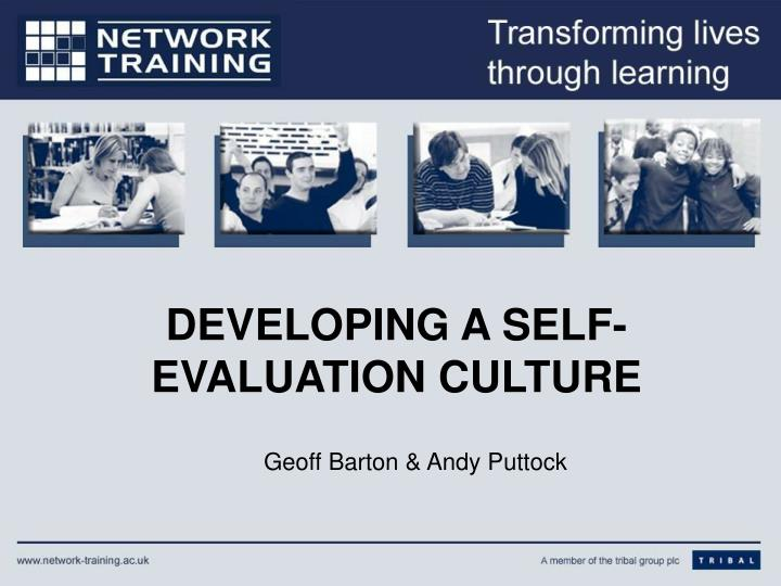 developing a self evaluation culture n.