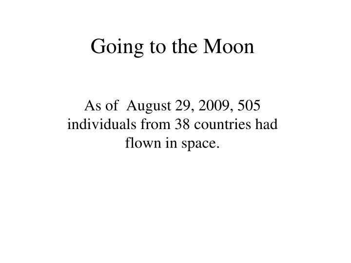 going to the moon n.