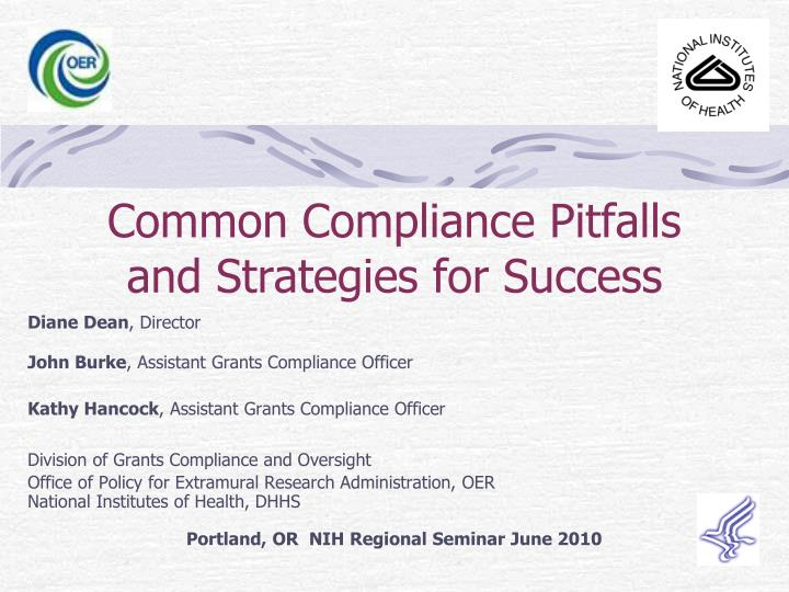common compliance pitfalls and strategies for success n.