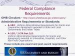 federal compliance requirements1