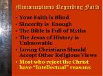 misconceptions regarding faith5