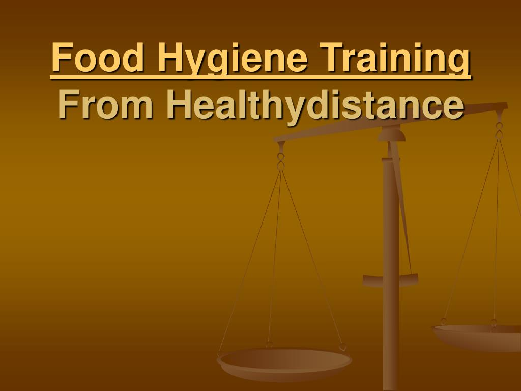food hygiene training from healthydistance l.