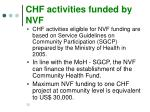 chf activities funded by nvf