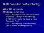 biac committee on biotechnology