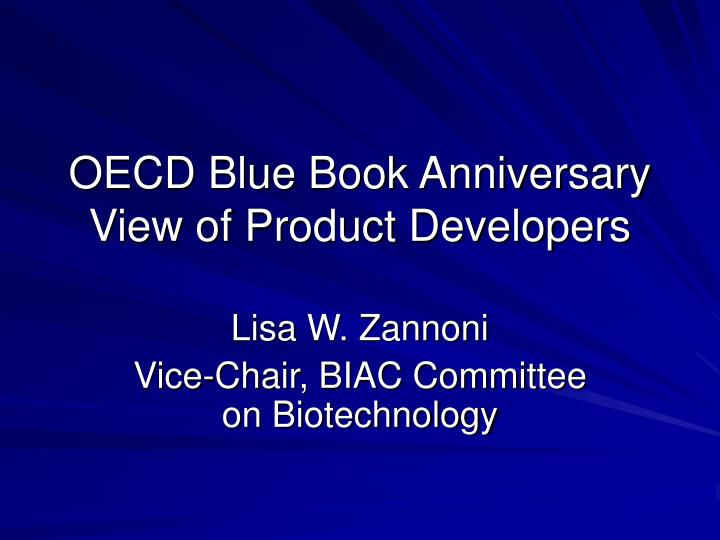 oecd blue book anniversary view of product developers n.