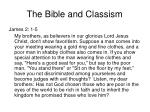 the bible and classism