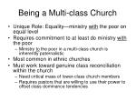 being a multi class church
