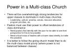 power in a multi class church