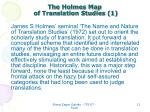 the holmes map of translation studies 1