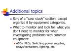 additional topics