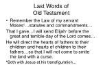 last words of old testament