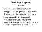 the minor prophets amos