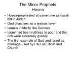 the minor prophets hosea