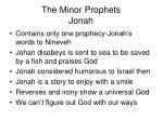 the minor prophets jonah
