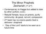 the minor prophets zechariah 1 st 2 nd