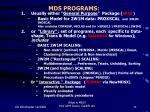 mds programs