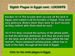 eighth plague in egypt cont locusts