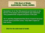 fifth bowl of wrath darkness pains sores