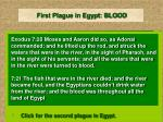 first plague in egypt blood