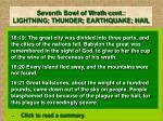 seventh bowl of wrath cont lightning thunder earthquake hail