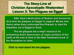 the story line of christian apocalyptic rhetorolect lesson 3 ten plagues on egypt