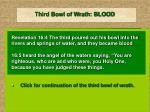 third bowl of wrath blood