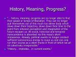history meaning progress