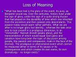 loss of meaning