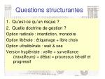 questions structurantes