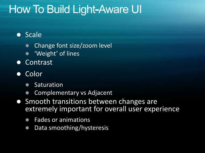 How To Build Light-Aware UI