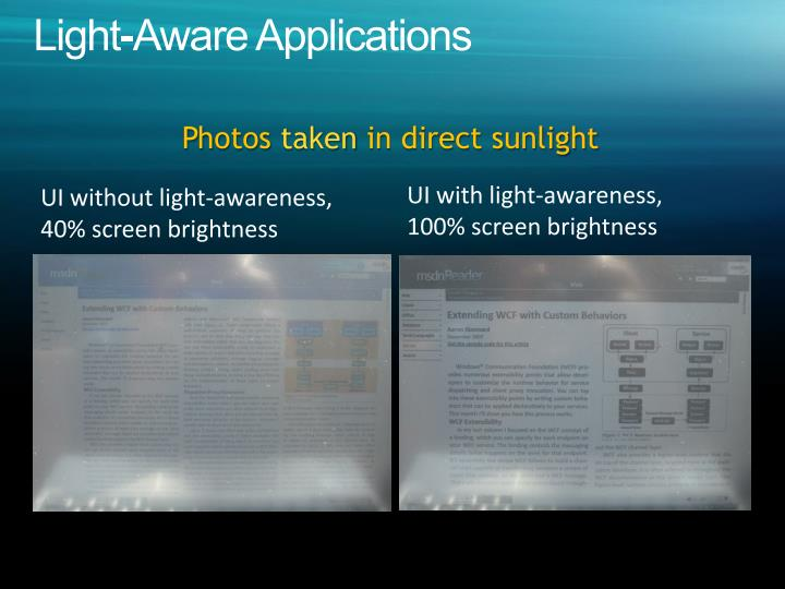 Light-Aware Applications