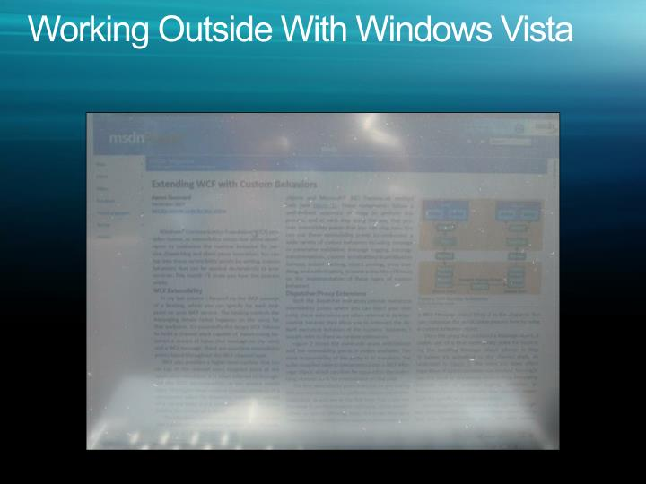 Working Outside With Windows Vista