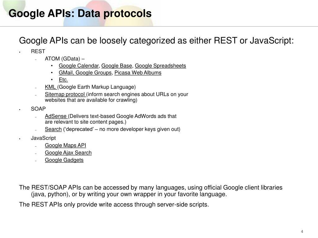 PPT - Google APIs PowerPoint Presentation - ID:1192465