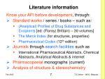 literature information
