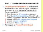 part 1 available information on api
