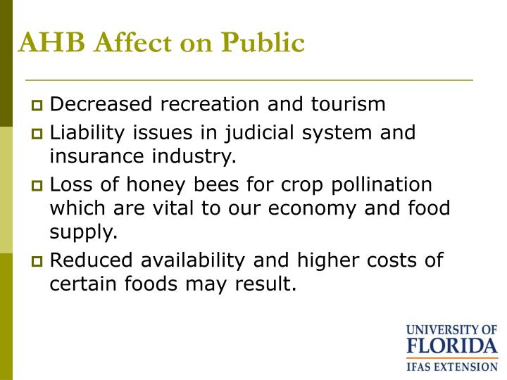 AHB Affect on Public