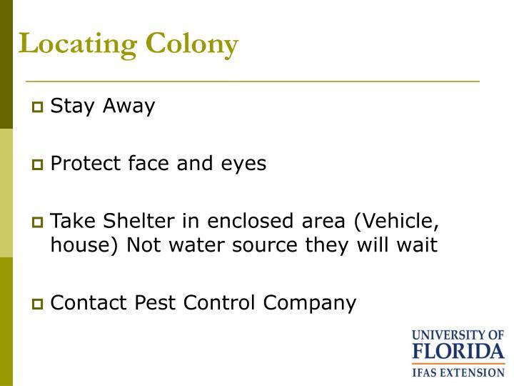 Locating Colony