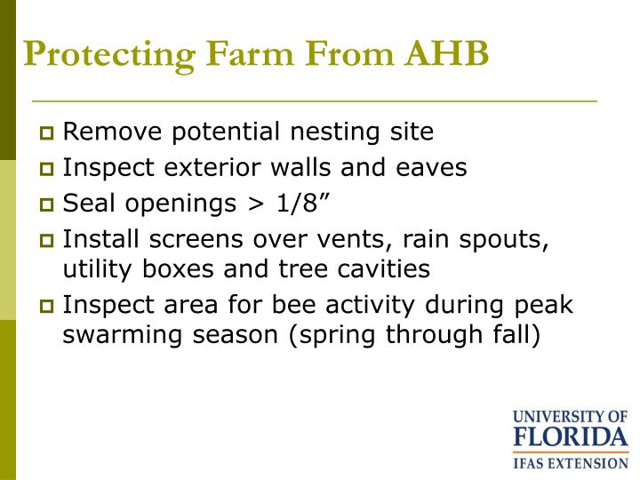 Protecting Farm From AHB