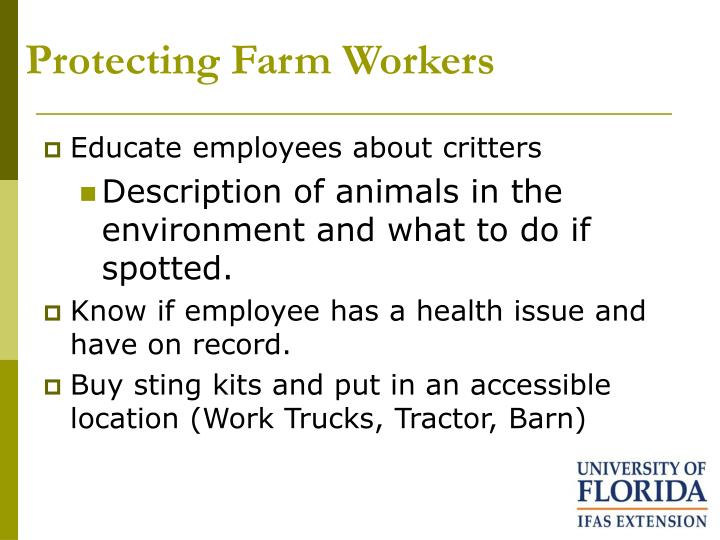 Protecting farm workers