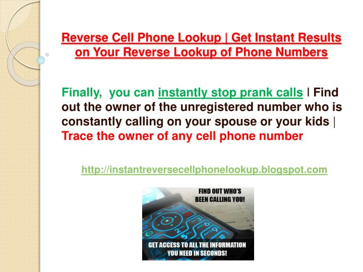 Reverse cell phone lookup get instant results on your reverse lookup of phone numbers