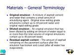 materials general terminology