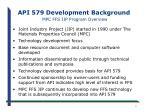 api 579 development background mpc ffs jip program overview