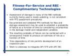 fitness for service and rbi complimentary technologies