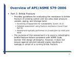 overview of api asme 579 2006